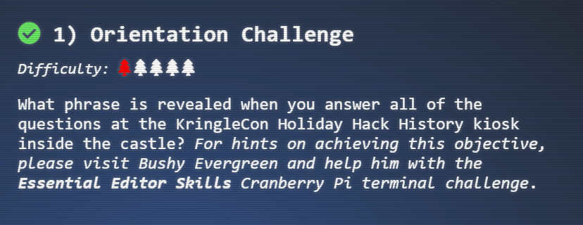 The 2018 SANS Holiday Hack Challenge - Write-Up